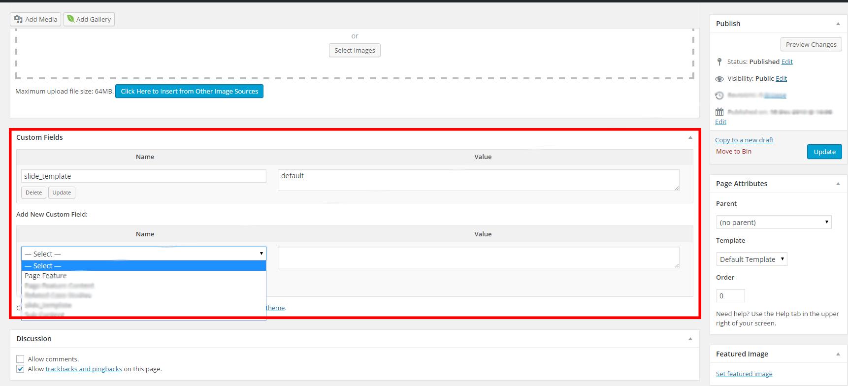 Custom Fields Screenshot 1
